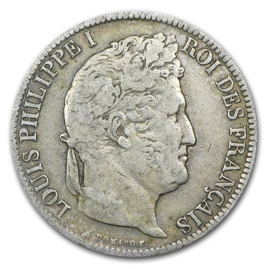 1831-K France Silver 5 Francs Louis Philippe VF