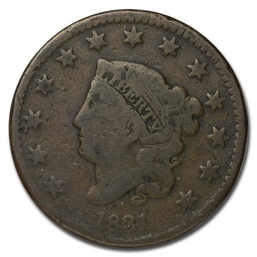 1831 Large Cent Lg Letters Good