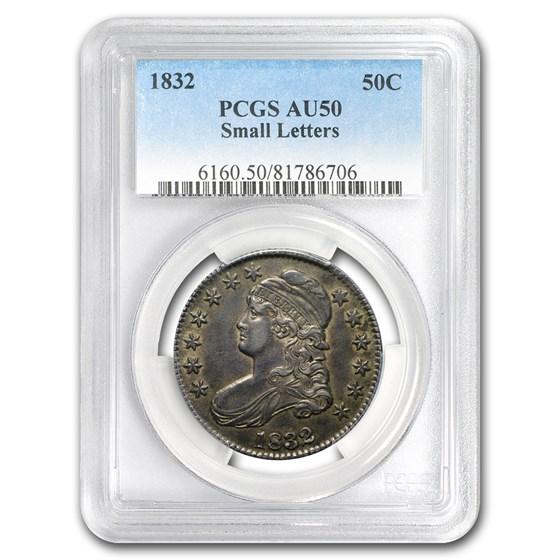 1832 Bust Half Dollar AU-50 PCGS (Sm Letters)