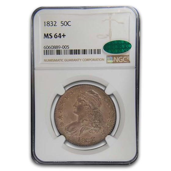 1832 Bust Half Dollar MS-64+ NGC CAC