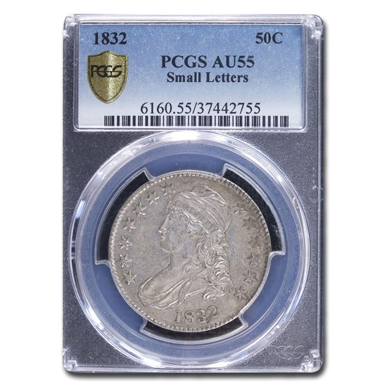 1832 Capped Bust Half Dollar AU-55 PCGS (Small Letters)