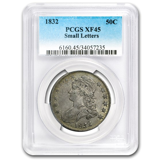 1832 Capped Bust Half Dollar Sm Letters XF-45 PCGS