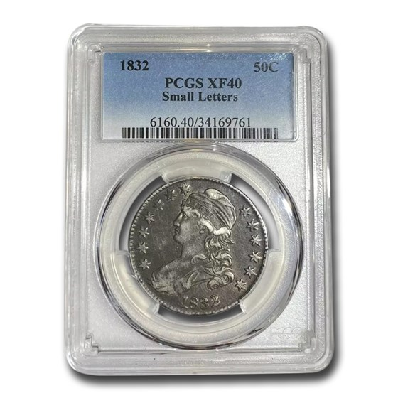 1832 Capped Bust Half Dollar XF-40 PCGS (Small Letters)