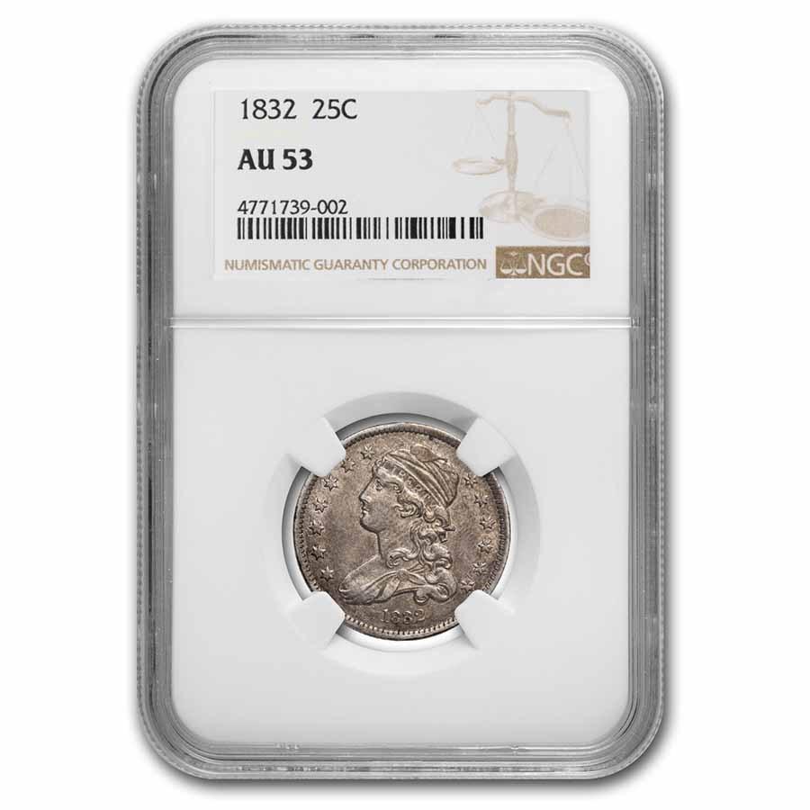 1832 Capped Bust Quarter AU-53 NGC
