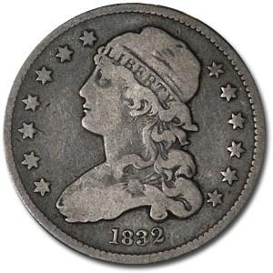 1832 Capped Bust Quarter Fine