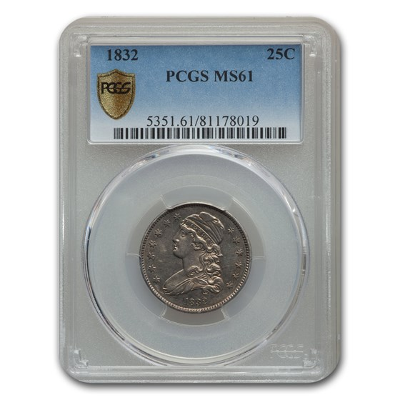 1832 Capped Bust Quarter MS-61 PCGS