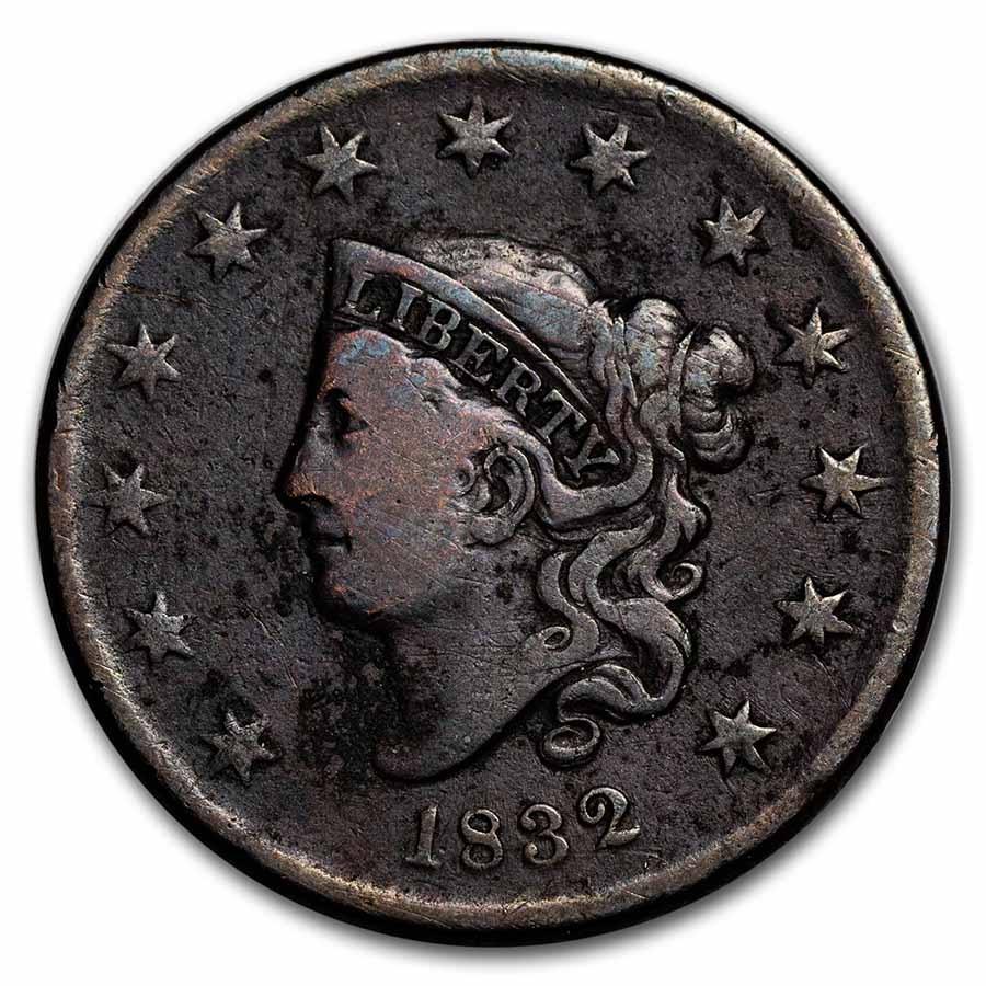 1832 Large Cent Lg Letters Fine