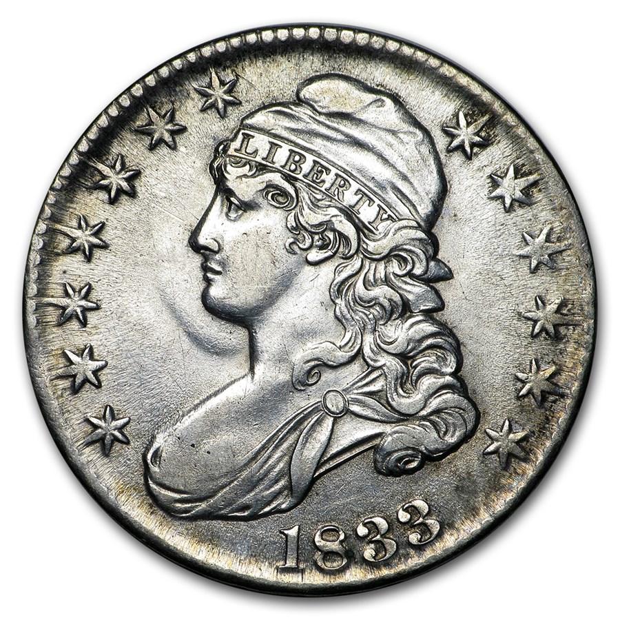 1833 Bust Half Dollar AU
