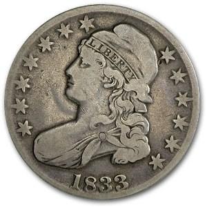1833 Bust Half Dollar Fine