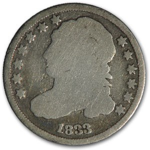 1833 Capped Bust Dime Good