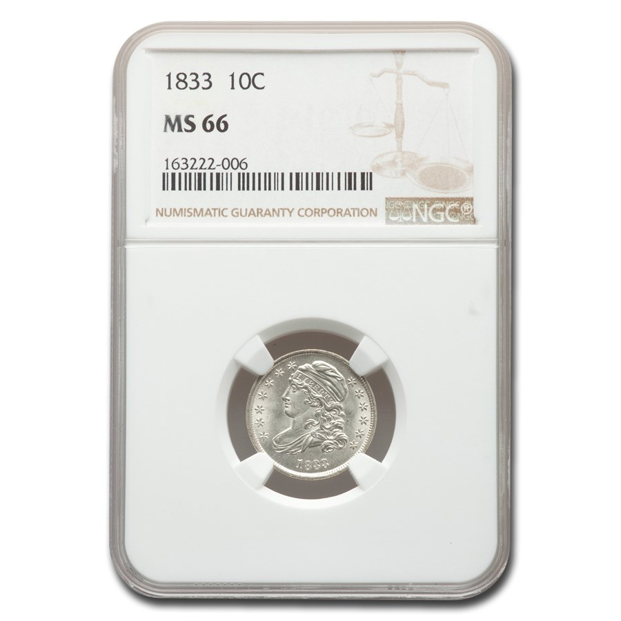 1833 Capped Bust Dime MS-66 NGC