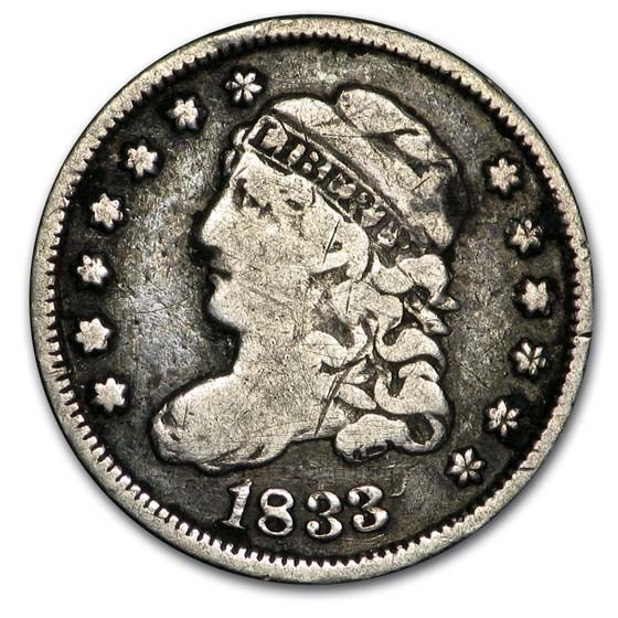 1833 Capped Bust Half Dime Fine