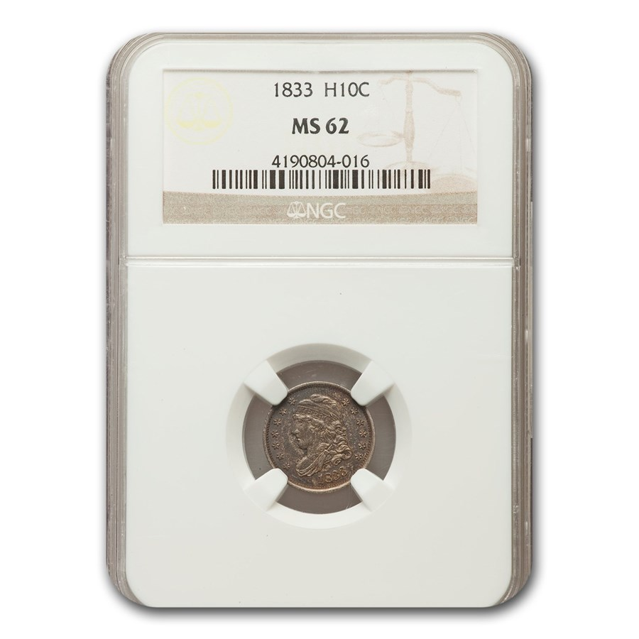 1833 Capped Bust Half Dime MS-62 NGC