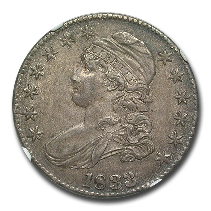 1833 Capped Bust Half Dollar AU-55 NGC (O-104)