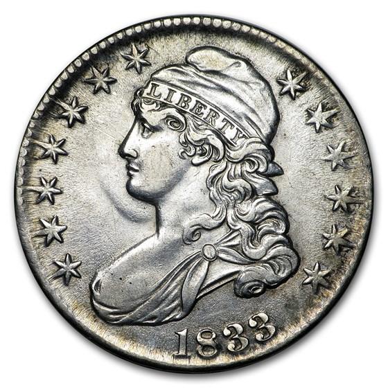 1833 Capped Bust Half Dollar AU