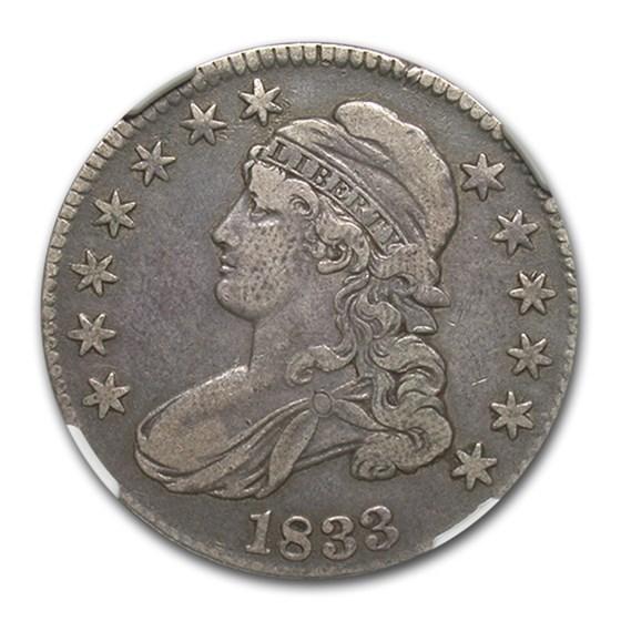 1833 Capped Bust Half Dollar VF-20 NGC