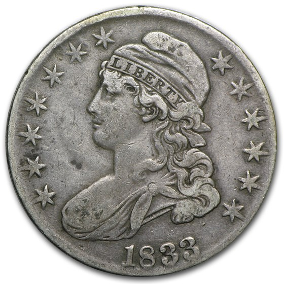 1833 Capped Bust Half Dollar VF