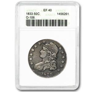 1833 Capped Bust Half Dollar XF ANACS