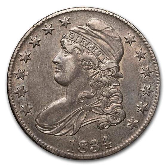 1834 Bust Half Dollar AU (Lg Date, Sm Letters)