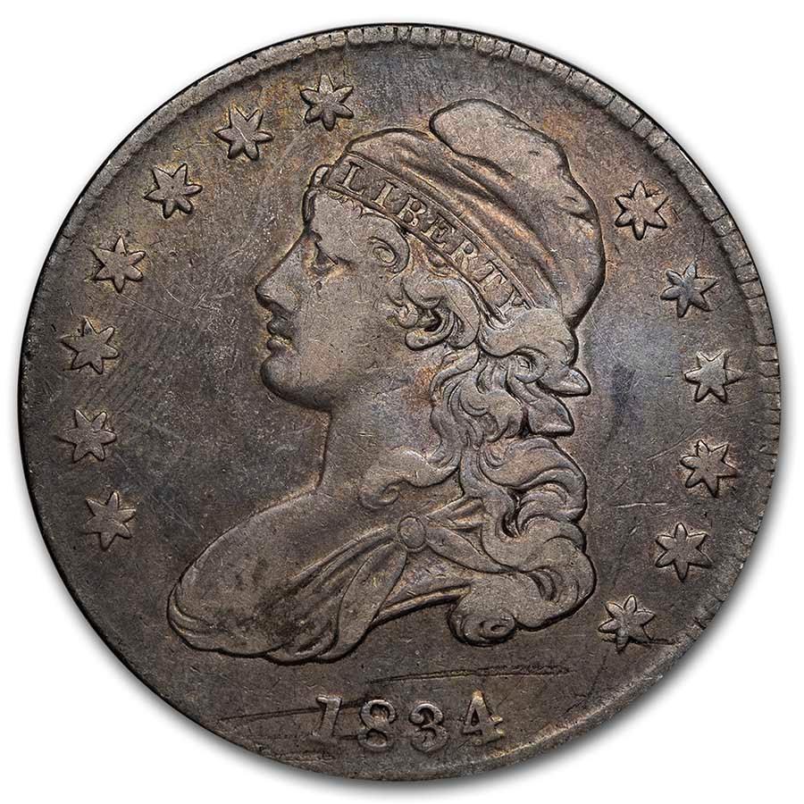 1834 Bust Half Dollar VF (Sm Date, Sm Ltrs, Details)