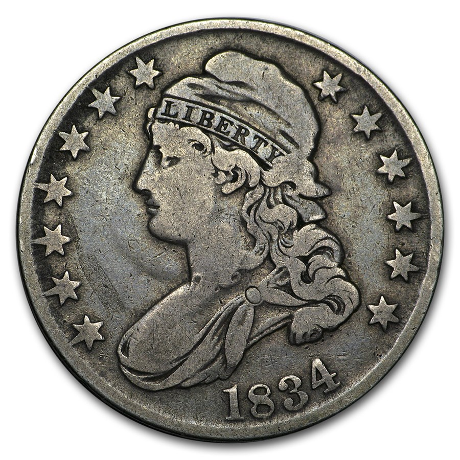 1834 Bust Half Dollar VG (Lg Date, Lg Letters)