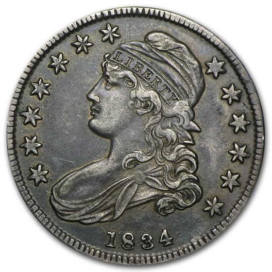 1834 Bust Half Dollar XF (Lg Date, Lg Letters)