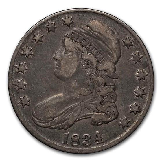 1834 Bust Half Dollar XF (Lg Date, SM Letters)