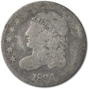 1834 Capped Bust Half Dime VG