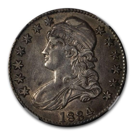 1834 Capped Bust Half Dollar AU-55 NGC