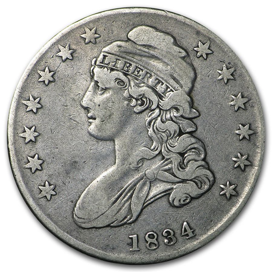 1834 Capped Bust Half Dollar VF