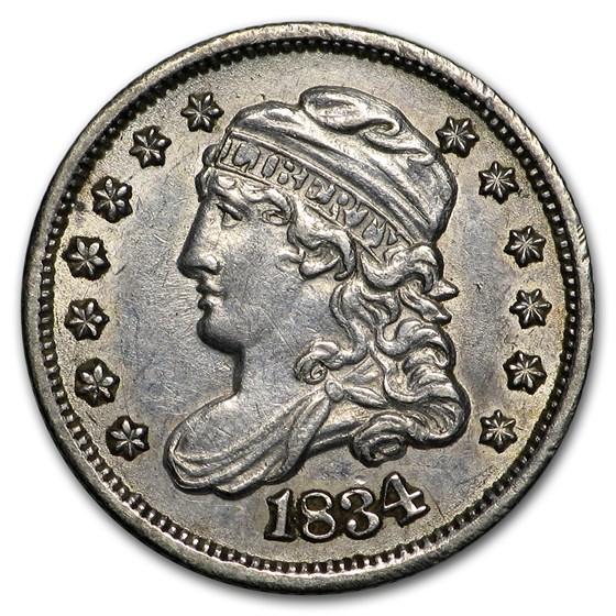 1834 Half Dime AU