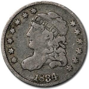 1834 Half Dime Fine Details (Cleaned)