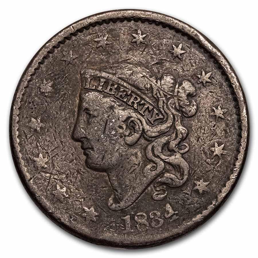 1834 Large Cent Good