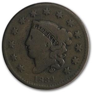 1834 Large Cent VG