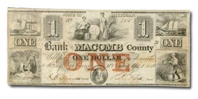 1835 Bank of Macomb County @ Mt Clemens $1 MI-295 VF