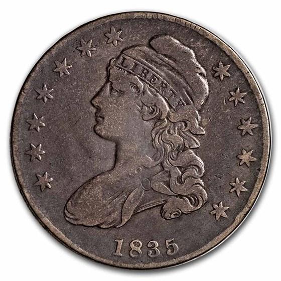 1835 Bust Half Dollar VG