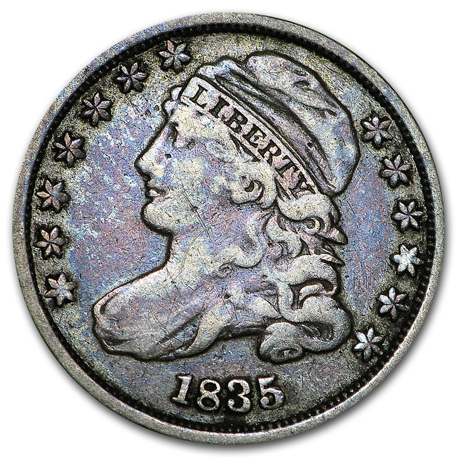 1835 Capped Bust Dime VF