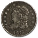 1835 Capped Bust Half Dime Large Date/Large 5¢ XF