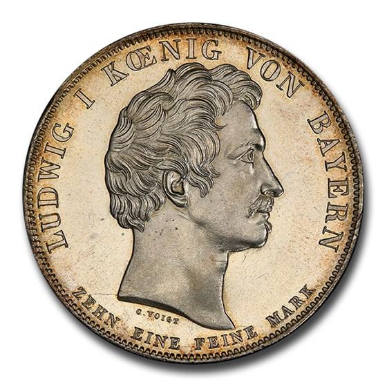 1835 German States Bavaria Ludwig I AR Thaler MS-65 PCGS