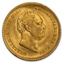 1835 Great Britain Gold Half-Sovereign William IV MS-64 PCGS