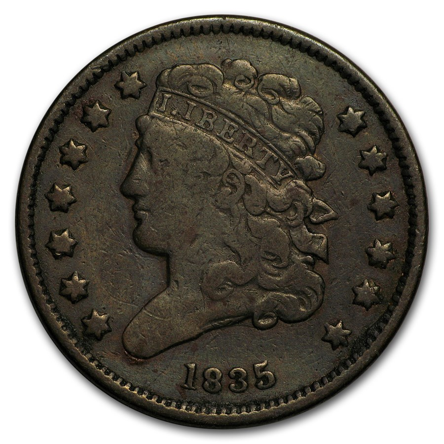 1835 Half Cent Fine