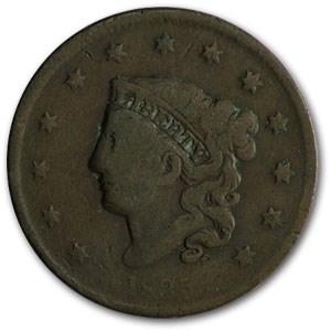 1835 Large Cent Sm 8 & Stars VG