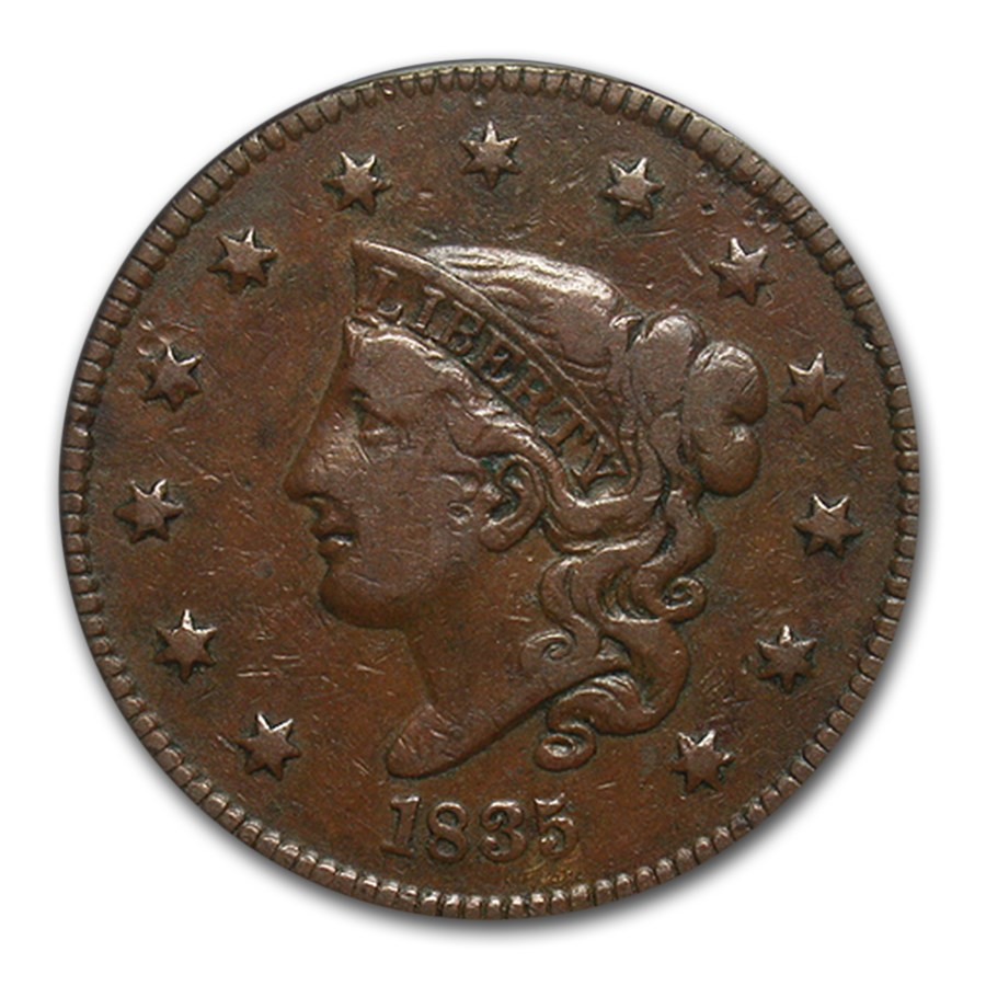 1835 Large Cent VF-25 PCGS (Head of 1836)