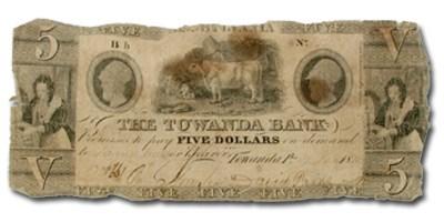 1835 Towanda Bank, Towanda, PA $5.00 PA-650, Fine