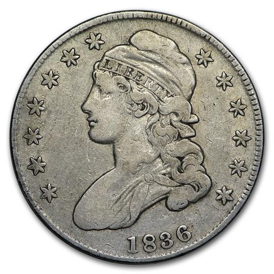 1836 Bust Half Dollar Fine (Lettered Edge)