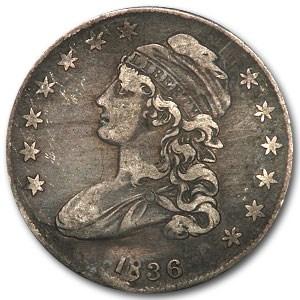 1836 Bust Half Dollar VF (Details, Lettered Edge)