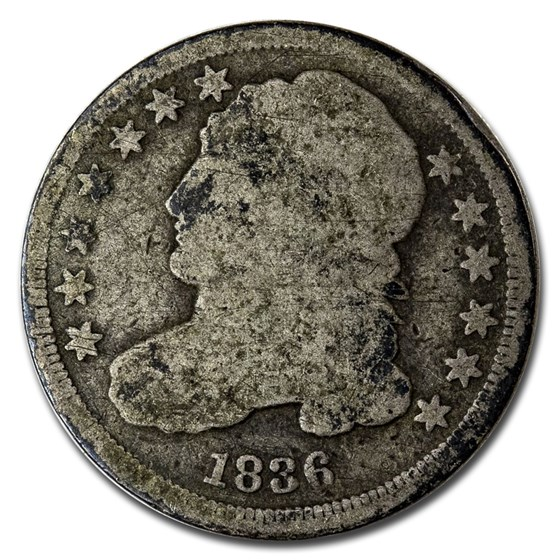 1836 Capped Bust Dime Good