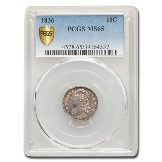 1836 Capped Bust Dime MS-65 PCGS