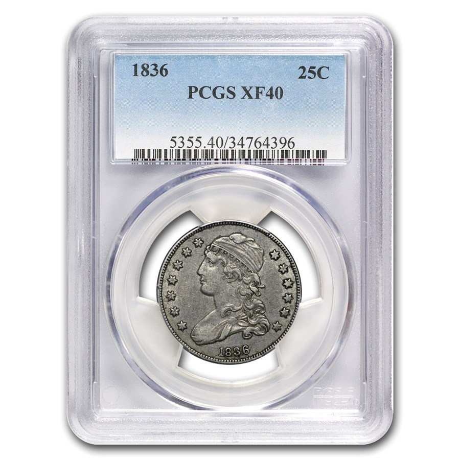 1836 Capped Bust Quarter XF-40 PCGS