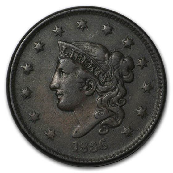 1836 Large Cent Very Fine